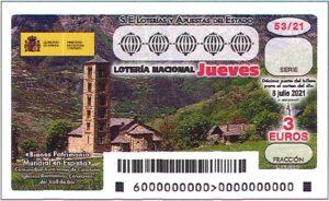 Lotería Nacional Jueves (3€) 08/07/2021