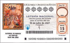 Lotería Nacional Sábado (15€) 10/07/2021