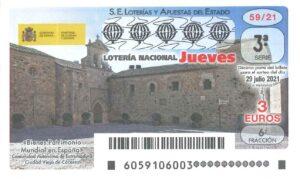 Lotería Nacional Jueves (3€) 29/07/2021