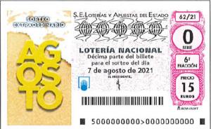 Lotería Nacional Sábado (15€) 07/08/2021