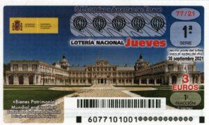 Lotería Nacional Jueves (3€) 30/09/2021