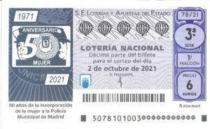 Lotería Nacional Sábado (6€) 02/10/2021